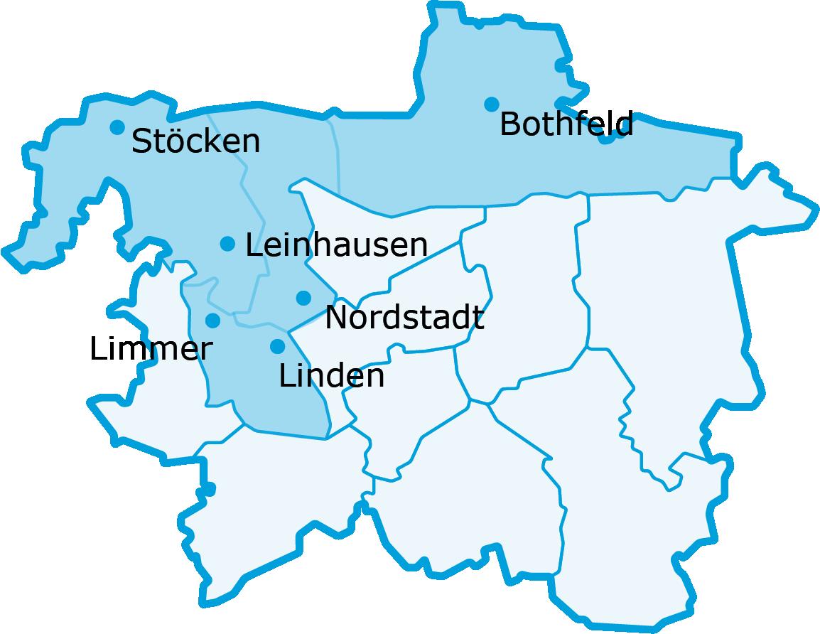 Karte Standorte